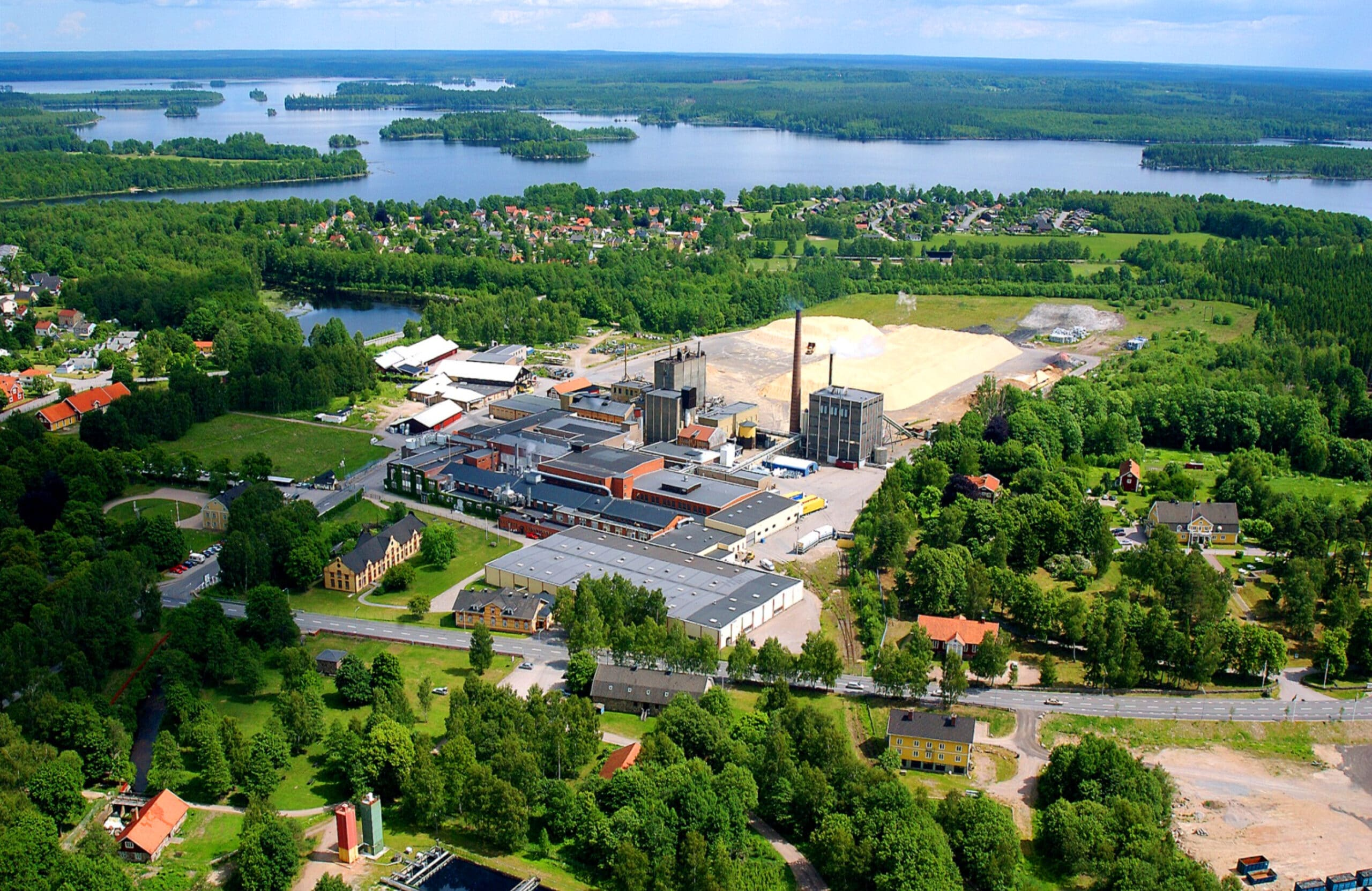 A birdseye view of Lessebo's industry